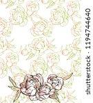 beautiful hand drawn bouquet of ... | Shutterstock .eps vector #1194744640