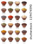 different spices isolated on... | Shutterstock . vector #119474590