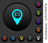 destination gps map location... | Shutterstock .eps vector #1194749476