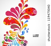 floral and ornamental item... | Shutterstock .eps vector #119475040
