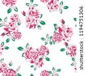vector flowers pattern ... | Shutterstock .eps vector #1194751306
