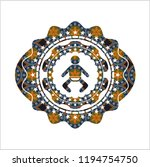 baby icon inside arabic badge.... | Shutterstock .eps vector #1194754750