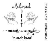"""a balanced diet means a...   Shutterstock .eps vector #1194755113"
