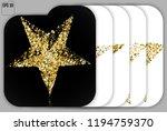 set of gold stars | Shutterstock .eps vector #1194759370