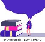 library books background.... | Shutterstock .eps vector #1194759640
