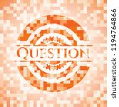 question abstract emblem ... | Shutterstock .eps vector #1194764866