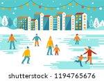 vector illustration in flat... | Shutterstock .eps vector #1194765676