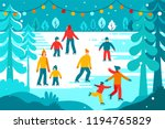 vector illustration in flat... | Shutterstock .eps vector #1194765829