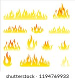 fire flames in white background | Shutterstock .eps vector #1194769933