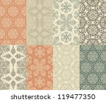 vector set of 8 seamless winter ... | Shutterstock .eps vector #119477350