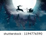 winter blue sky with falling... | Shutterstock .eps vector #1194776590
