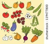 vector illustration   set of... | Shutterstock .eps vector #119477800