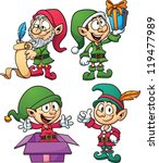 christmas elves. vector clip... | Shutterstock .eps vector #119477989