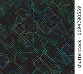 font seamless pattern on a... | Shutterstock .eps vector #1194780559