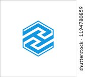 hexagon logo design inspiration | Shutterstock .eps vector #1194780859