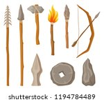 collection of stone age symbols ... | Shutterstock .eps vector #1194784489