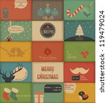 collection of retro holidays... | Shutterstock .eps vector #119479024