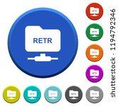ftp retrieve file round color...   Shutterstock .eps vector #1194792346