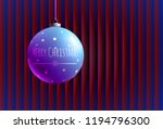 colorful glass ball on creative ... | Shutterstock .eps vector #1194796300
