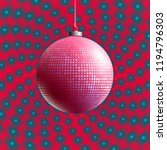 colorful glass ball on creative ... | Shutterstock .eps vector #1194796303