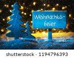blue tree  weihnachtsfeier... | Shutterstock . vector #1194796393