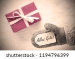 pink gift  glove  alles gute... | Shutterstock . vector #1194796399