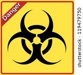 bio hazard sign. yellow and... | Shutterstock . vector #119479750
