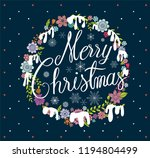merry christmas  calligraphy... | Shutterstock .eps vector #1194804499