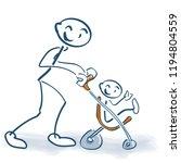 stick figure with children...   Shutterstock .eps vector #1194804559