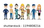 set of people related to the... | Shutterstock .eps vector #1194808216