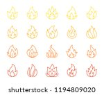 fire thin line icons set.... | Shutterstock .eps vector #1194809020