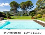 exterior with swimming pool ...   Shutterstock . vector #1194811180