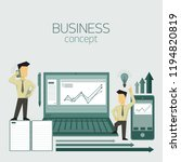 business concept. businessman... | Shutterstock .eps vector #1194820819
