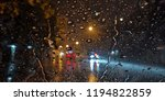 rain drops dripping flow down... | Shutterstock . vector #1194822859