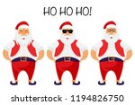 santa claus and secret santa... | Shutterstock .eps vector #1194826750