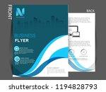 business brochure flyer design... | Shutterstock .eps vector #1194828793