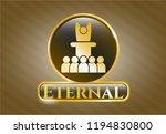 golden emblem with... | Shutterstock .eps vector #1194830800