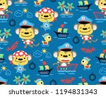 vector of seamless pattern with ... | Shutterstock .eps vector #1194831343