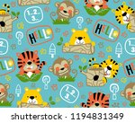 vector of seamless pattern with ...   Shutterstock .eps vector #1194831349