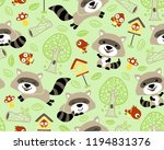 vector of seamless pattern with ... | Shutterstock .eps vector #1194831376