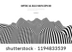 optical illusion lines... | Shutterstock .eps vector #1194833539