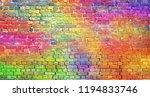 Painted Brick Wall  Abstract...