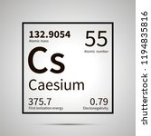 caesium chemical element with... | Shutterstock .eps vector #1194835816
