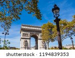 view to the triumphal arch in... | Shutterstock . vector #1194839353
