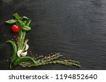 composition with green chili ... | Shutterstock . vector #1194852640