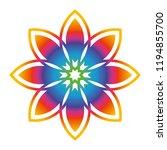 beautiful symmetrical mandala... | Shutterstock .eps vector #1194855700