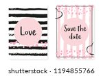 bridal shower card with dots... | Shutterstock .eps vector #1194855766