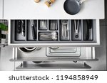 set of clean kitchenware and...   Shutterstock . vector #1194858949