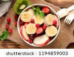 Bowl With Delicious Fruit Salad ...