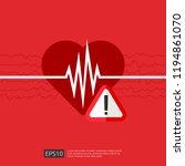 danger heart attack alert... | Shutterstock .eps vector #1194861070
